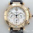Cartier Pasha 38mm Gelbgold 750 Chronograph Automatik