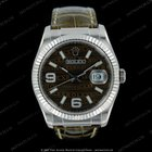 Rolex Datejust white gold on leather strap