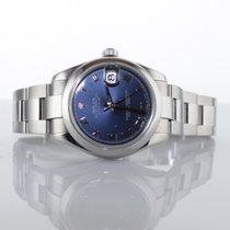 Rolex Mid Size DateJust -  Blue Azzuro Dial - Box and Papers
