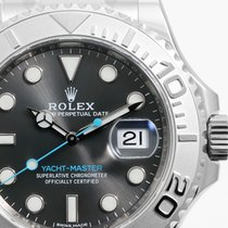 Rolex SS/Plat SS 40mm Yacht-Master Slate Dial Aqua Hands - Unworn