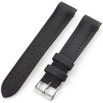 Fortis Leather Strap Performance Black With Pin Buckle Brushed...