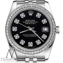 Rolex Womens Rolex 26mm Datejust Black Color Dial With...