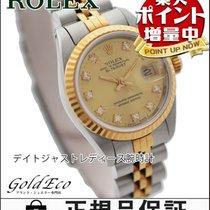 ロレックス (Rolex) 【ロレックス】 デイトジャスト レディース腕時計【中古】 10Pダイヤ シルバー/イエローゴール...