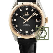 Omega Seamaster Aqua Terra 150m Co-Axia 38.5 Pink Gold Diamond...
