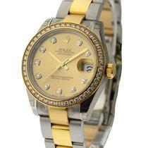 Rolex Unworn 178383chdo Mid Size Steel and Yellow Gold...
