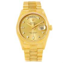 Rolex President Day-date 18k Yellow Gold Diamond Dial Mens...