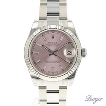 Rolex Datejust 31 Stainless Steel Fluted / Oyster / Pink NEW
