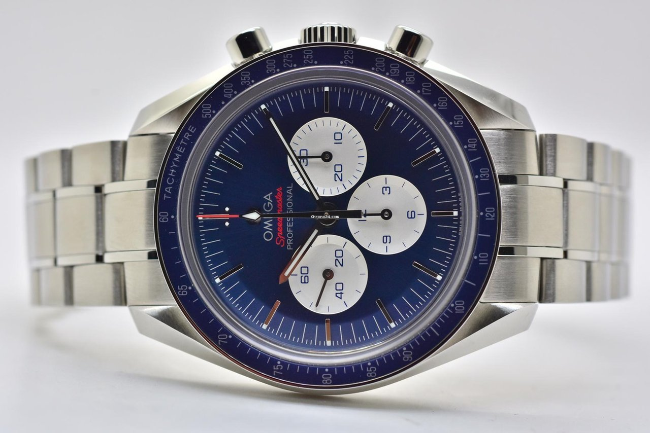 Omega Speedmaster Professional Moonwatch Tokyo 2020 Blue For
