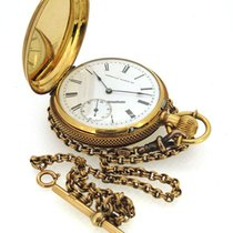 沃尔瑟姆 (Waltham) 18K Gold Pocket Watch, small second