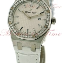 Audemars Piguet Royal Oak Ladies, Silver Dial, Diamond Bezel -...