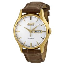 Tissot Visodate Automatic White Dial Brown Leather Men's...