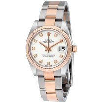 Rolex DATEJUST Rose Gold White Diamond Dial 2016