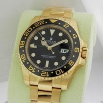 Rolex 116718 GMT Master II 18kt Yellow Gold Black Dial