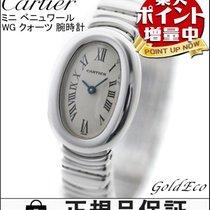 カルティエ (Cartier)  【カルティエ】ミニ ベニュワール K18WG 腕時計レディース クォーツ ホワイトゴールド...