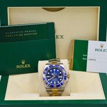 Rolex Submariner Date Two Tone Blue Ceramic Bezel 116613LB