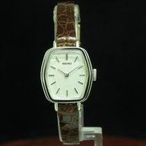 Seiko Edelstahl Handaufzug Damenuhr / Ref 1100-5430 / Kaliber 11a