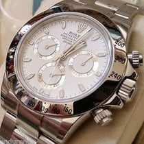 Rolex Daytona Cosmograph Steel White Dial Silver Subdials Year...