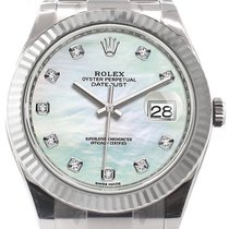 Rolex Datejust 41 126334 White Mother of Pearl Diamond Fluted...