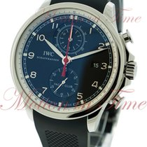 IWC Portuguese Yacht Club Chronograph, Black Dial - Stainless...