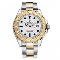 Rolex Used 16623w Yacht-Master 2-Tone Steel and 18kt Yellow...
