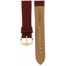 Hirsch Glittering Bordeaux Cashmere Strap 18mm
