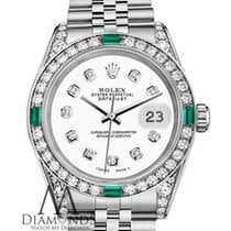 Rolex Datejust 26mm Stainless Steel White Certified Diamonds...