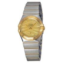 Omega Ladies 12320276057001 Constellation Diamond Gold Watch