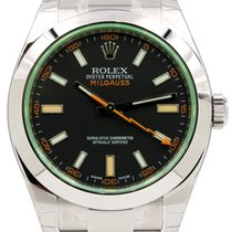Rolex Milgauss 116400V 116400GV Green Crystal Black Dial 40mm...