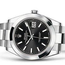 Rolex Datejust 41 Black Stick dial