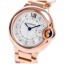 Cartier WE902025 Ballon Bleu 11 Diamonds Women's 18KT Rose...