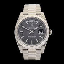 Rolex Day-Date 18k White Gold Gents 228239 - W4129