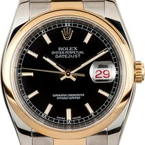 "Rolex Datejust 36mm Stahl / Gold  ""Black Index"" 116203"