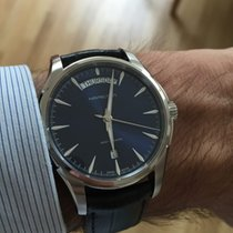 Hamilton JAZZMASTER DAY DATE AUTO Blue Dial-Black Leather...