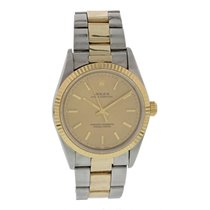 Rolex Oyster Perpetual No Date 18K YG & SS 14233