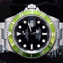 """Rolex 2007 """"Kermit"""" Submariner Date, Green Bezel, Box..."""