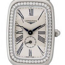 Longines Equestrian Steel & Diamond Womens Watch Silver...