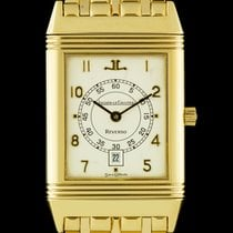 Jaeger-LeCoultre 18k Yellow Gold Mid-Size Reverso B&P...