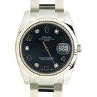 Rolex Date 115234 In Steel And Diamonds, 34mm