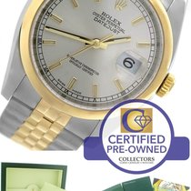 Rolex DateJust 36mm 116203 Two-Tone Gold Stainless Silver Jubilee