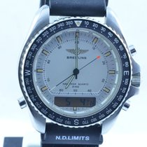 Breitling Pluton Herren Uhr Stahl/stahl 42mm A51037 Vintage Rar