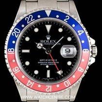 Rolex S/Steel Black Dial Pepsi Bezel GMT-Master II B&P 16710