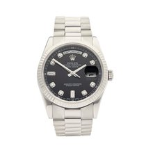 Rolex Day-Date 18k White Gold Gents 118239 - W4107