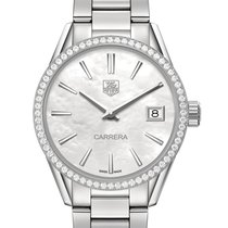 TAG Heuer Carrera Ladies Mother Of Pearl Dial Diamond Bezel