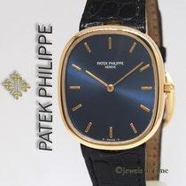 Patek Philippe Ellipse 3738 18k Yellow Gold Blue Dial Mens...