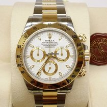 Rolex Cosmograph Daytona 116523 Gold Steel White Dial [NEW]