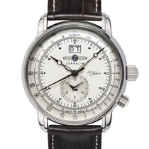 """Zeppelin """"100 Jahre"""" GMT Mod: 7640-1 inkl.Ersatzband NEU"""