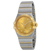 Omega Ladies O12320352058001 Constellation Co-Axial Diamonds...