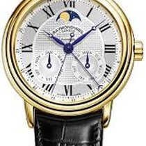 Raymond Weil Maestro Silver Dial 18kt Yellow Gold