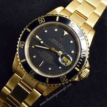 Rolex 16808 Submariner 18K YG Black Nipple Dial