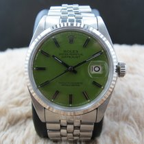 """Rolex DATEJUST 1601 SS with Glossy """"Stella"""" Green Dial"""